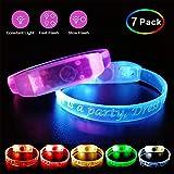 Pumila LED-Armband-blinkende Leuchten Sie Armbänder-Satz 7 Glühen Sie in der Nachtdunkelheit für...