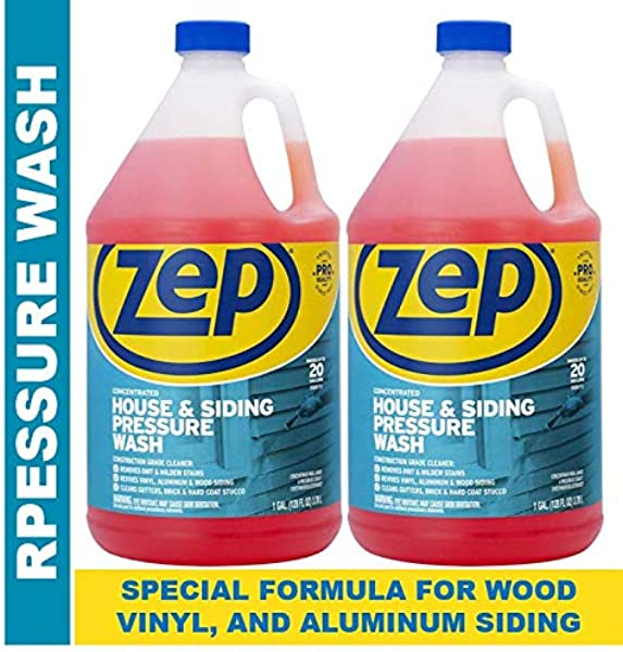 Zep House And Siding Pressure Wash Cleaner Concentrate 128 Ounce Pack Of 2