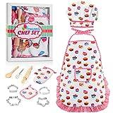 SOKY Spielzeug für Mädchen 3-7 Jahre, Geschenk für Mädchen ab 3-8 Jahre Kinder Backset mit Kinderschürze für Jungen ab 3-7 Jahre Weihnachts Geschenke für Kinder ab 3-8 Jahre Kochmütze Outfit Spiel Set