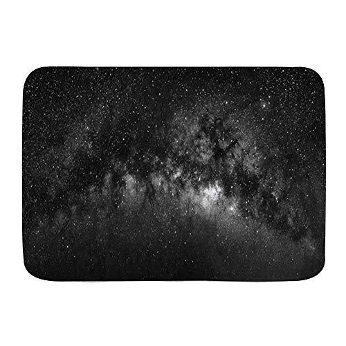 VINISATH Alfombra de baño,Fantasía Naturaleza Cosmos Vista Vía Láctea Universo Eclipse Galaxia Estrella Vía Láctea Ciencia Diseño Abstracto,Alfombra Absorbente,Alfombra de baño,Dormitorio,Cocina