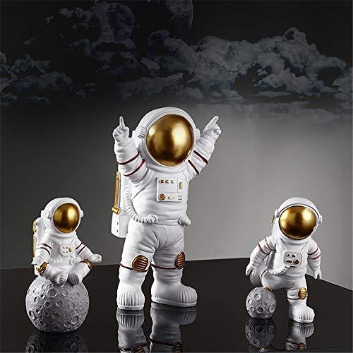 WEILY Spaceman Astronaut Statue, Plastic Resin Cosmonaut Model,Kids Boys...