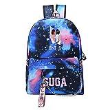 NOCY&ZL KPOP BTS Bangtan Boys Daypack Sacchetto di scuola con Porta USB di ricarica Suga Jin Jimin Jung Kook per Fans
