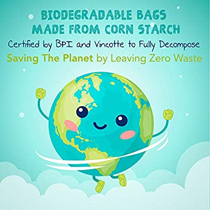 ZPAW Compostable and Biodegradable Dog Poop Bags Made with Corn Starch | Large Environmentally Friendly Dog Waste Bags Certified 100% Compostable and Biodegradable (160 Pet Waste Bags) 5