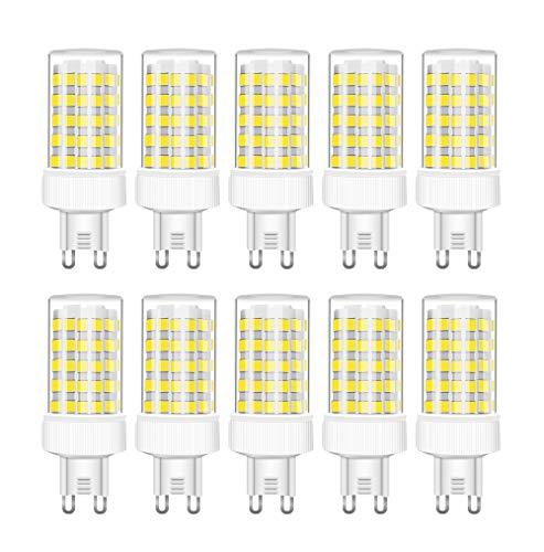 RANBOO G9 LED 10W equivalenti a 80W, Bianco Freddo 6000K 800LM, Non-Dimmerabile, AC220-240V, 360 Angolo a fascio, 10-Pack