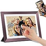 Cornice Digitale WiFi DUODUOGO Cornice Digitale Intelligente da 10 Pollici con 1920x1200 IPS Display Touch Screen, Memoria da 16 GB Condividi Foto e Video Istantaneamente Tramite App (viola)