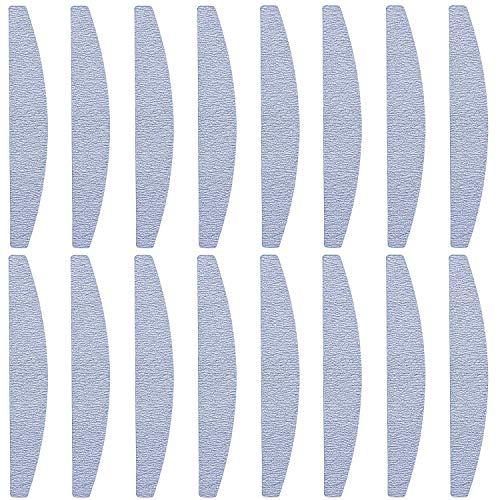 Bligo 16 Stück Profi Nagelfeilen, Nagelfeile Doppelseitig Schmirgelbrett Nagelwerkzeuge, 100/180 Streugut, für natürliche Nägel und Gelnägel Verschleißfest Waschbar, Nagelstudio und Zuhause