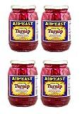 Mid East Pickled Turnips Premium Quality 32oz each - 4 Jars - مخلل لفت لبناني ممتاز
