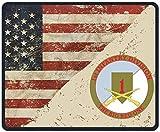 Primera División De Infantería Con Calcomanía De Rifles Cruzados Alfombrillas De Ratón Con Bandera De Ee. Uu. Alfombrilla Antideslizante Para Juegos Alfombrilla Para Trabajar, Jugar Y Otros Entretenim