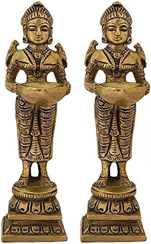Welcome Ranking TOP13 Lady Deep Laxmi Diya for Kuthu Pooja Room Vilakku Brass Max 69% OFF