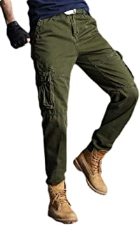 Men's Casual Multi-Pockets Work Pants Tactical Outdoor Cotton Military Army Cargo Pants