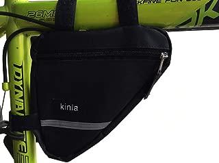 kinla Bicycle Bike Frame Bag,Road Mountain Bicycle Bike Triangle Saddle Frame Bag with Reflective Trim