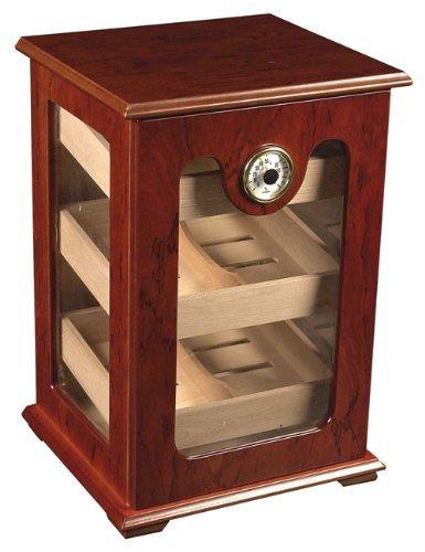 150 ct Cigar HUMIDOR - BURL Wood Great Display Show CASE