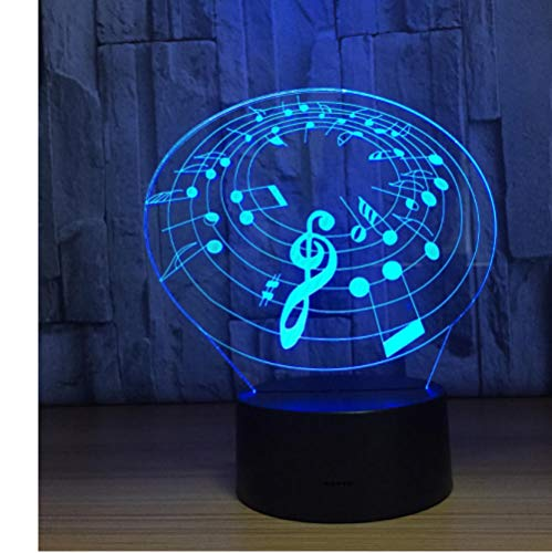 3D Music Night Light