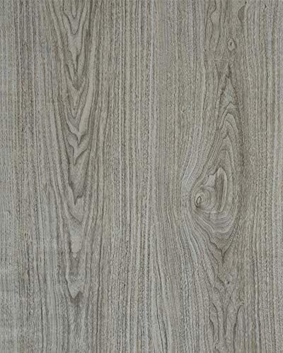 Gray Wood Contact Paper Wood Wallpaper Adhesive Film Grey Wood Grain Texture Peel and Stick for Kitchen Cabinets Removable Furniture Desk Wooden Decorative Faux Vinyl Roll 1.47'x6.6'