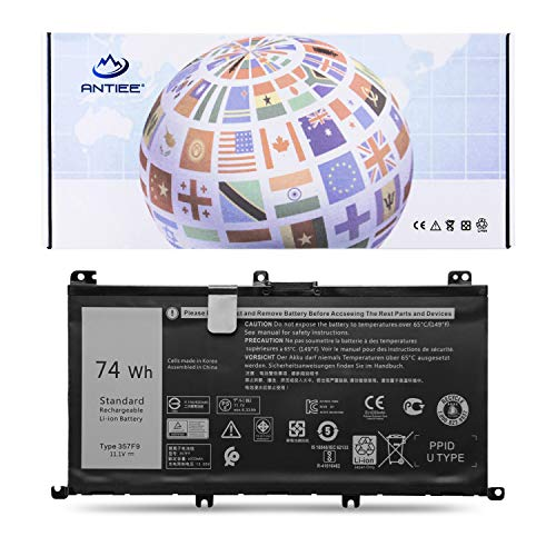ANTIEE 11.1V 74Wh 357F9 Notebook Primary Batería para DELL Inspiron 15 7000 Series 7566 7567 7557 7559 5576 5577 INS15PD-1548B INS15PD-1548R INS15PD-1748B 0GFJ6 71JF4 Laptop Battery