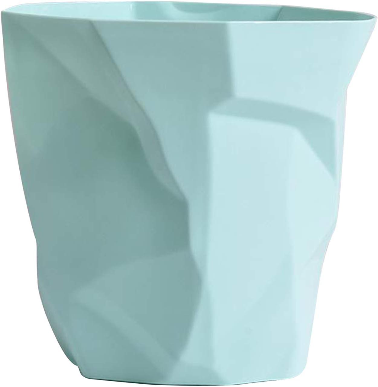 Dark Green Big Fenteer Home Papierkorb PP Einfarbig Altpapier Korb M/ülleimer M/ülleimer Ohne Deckel Gro/ße Kapazit/ät 6L