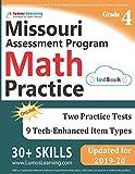 Missouri Assessment Program Test Prep: 4th Grade Math Practice Workbook and Full-length Online Assessments: MAP Study Guide