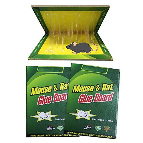 SCOBUTY Mausefalle Lebend,Exbuster Mausefalle,Mausefalle,Mouse Trap Klebrig für Maus, Ratte, Kakerlaken, Skorpione, drinnen und draußen