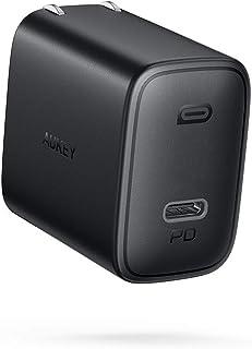 急速充電器 iPhone Android対応 USB-C 18W PD対応 コンパクトサイズ 出張 軽量 小型 AUKEY オーキー Swift PA-F1 (Black)