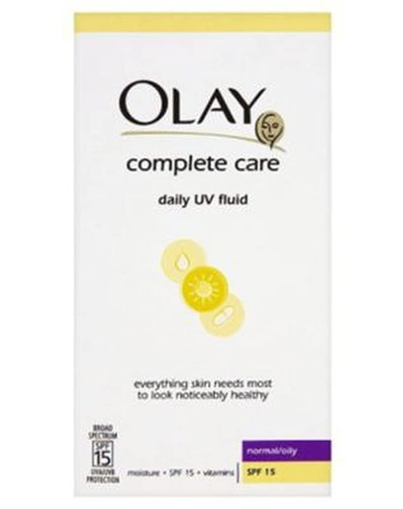 試用遷移桃オーレイ完全な軽量3In1の保湿日流体Spf15ノーマル/オイリー200ミリリットル (Olay) (x2) - Olay Complete Lightweight 3in1 Moisturiser Day Fluid SPF15 normal/oily 200ml (Pack of 2) [並行輸入品]