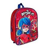 PERLETTI Mochila Escolar Miraculous Ladybug para Niñas - Bolso Infantil para Guardería con Lady...