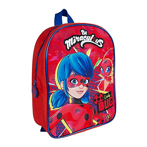 PERLETTI Mochila Escolar Miraculous Ladybug para Niñas: Bolso Infantil para Guardería