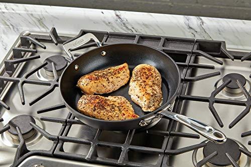 All-Clad H9112S64 Essentials Nonstick Fry pan set, 2-Piece, Grey