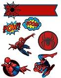 Decoración para tarta de cumpleaños, diseño de Spider-Man