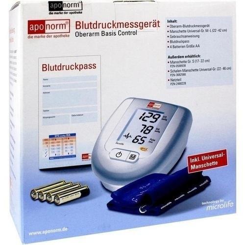 APONORM Blutdruck Messgerät Basis Control O.Arm 1 St