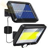 Luz Solar Exterior, Focos LED Exterior Solares con Sensor de Movimiento Lampara Solar Exterior 120° lluminación IP65 Impermeable Potentes Lampara Solar Exterior para Jardin Garaje Terraza