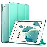 ESR iPad Air2 ケース 軽量 薄型 オートスリープ スタンド機能 半透明ー 傷つけ防止 三つ折タイプ iPad Air2専用 スマートカバー(ミントグリーン)