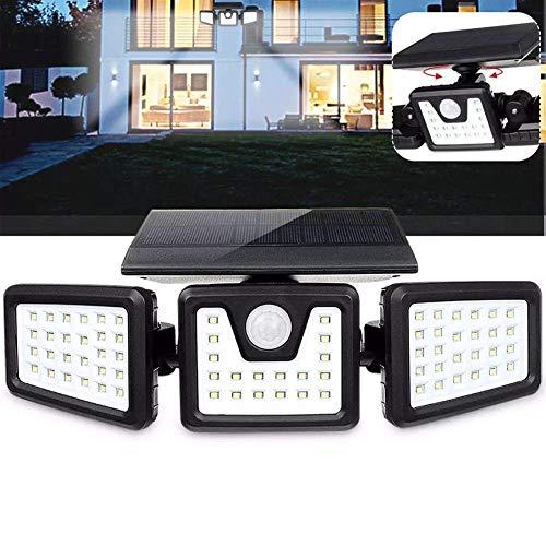 Taoke Jardín Iluminación 70 LED al Aire Libre Patio jardín de la lámpara Solar de la Pared 3 Modos de luz del Sensor de Movimiento Giratorio dongdong