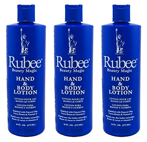 Rubee Hand & Body Lotion 16 Ounce (473ml) (3 Pack)