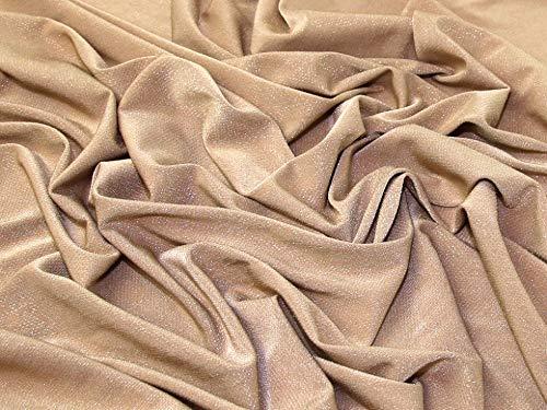 Minerva Crafts Lurex-Jersey-Stoff, Goldfarben, Meterware