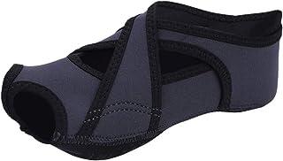 Yoga Socks for Women Non-Slip Grips & Straps Pain Relief Heel Spurs Edema Improve Circulation Ideal Pilates, Pure Barre, Ballet, Dance, Barefoot Zhhlaixing