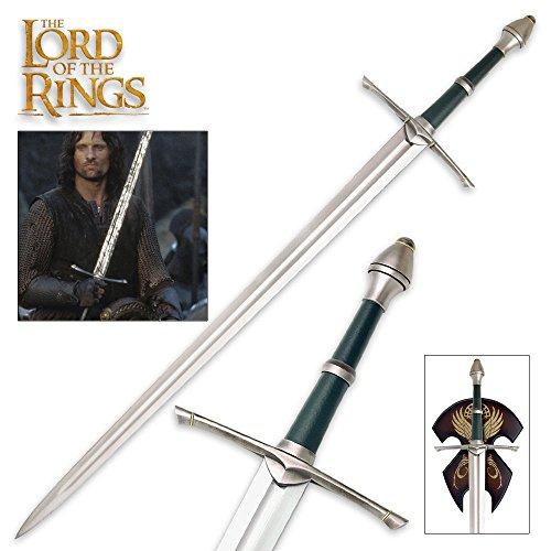 Herr der Ringe Streichers Ranger Schwert Aragorn Dekoschwert mit Wandplatte 120 cm für Sammler