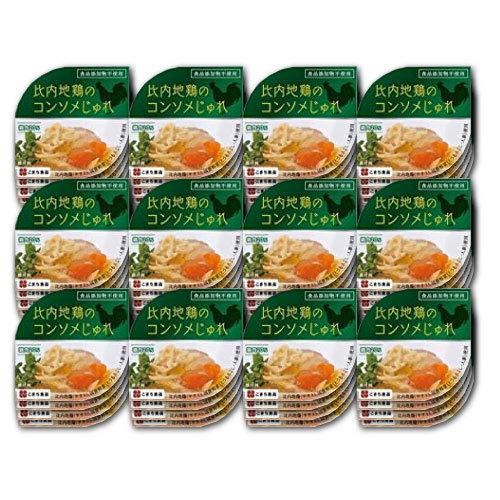比内地鶏のコンソメじゅれ 85g×48缶セット こまち食品 無添加のコンソメスープ ゼリー寄せ