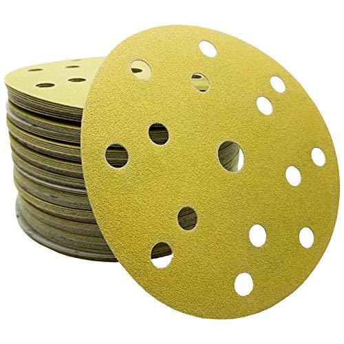 50x Dipoxy-Exzenter-Schleifer Klett Schleifscheiben P120 für 150mm Teller Durchmesser