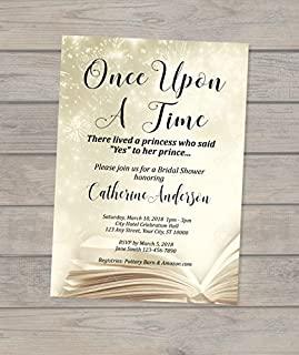 once upon a time bridal shower invitations