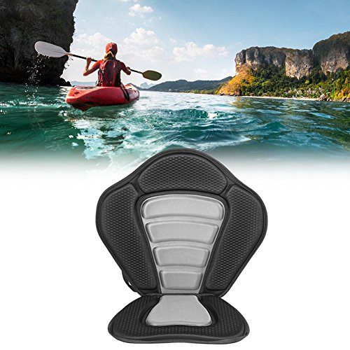 GOTOP Kayak Seat, Asiento Acolchado de Lujo para Kayak + Bolsa Trasera Desmontable Canoe Sit On Parte Superior Acolchada Respaldo Canoa Rafting Deportes Kayak Asiento