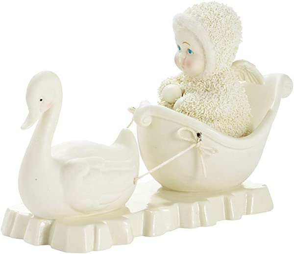 Department 56 Snowbabies Classics Swan Ride Figurine 3 54 Inch