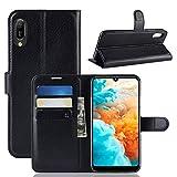 Fertuo Huawei Y6 2019 Hülle, Handyhülle Leder Flip Case
