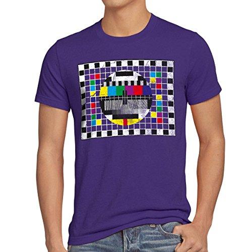 style3 Testbild Herren T-Shirt Sheldon, T-Shirt Hauptfarbe:Lila;Größe:M