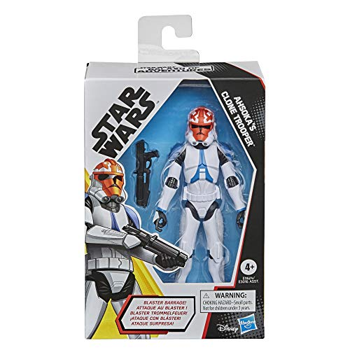Star Wars Galaxy of Adventures Ahsoka's Clone Trooper Toy 5-Inch-Scale Action Figure with Fun Blaster Accessory Feature, Kids Ages 4 and Up