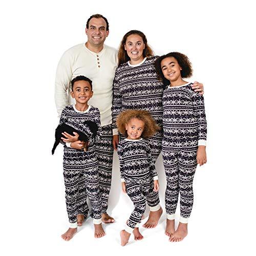 Burt's Bees Baby, Family Jammies, Matching Holiday Pajamas, Organic Cotton PJs, Frozen Fair Isle, Baby Sleeper, 0-3 Months
