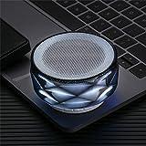 Stella Fella HiFi Negro portátil de 288 Luces LED Altavoces estéreo de Sonido del Altavoz de subgraves columnas inalámbricas Bluetooth