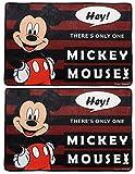 Fun Homes Disney Mickey Mouse 2 Pieces Anti-Slip Bath Mat 23\