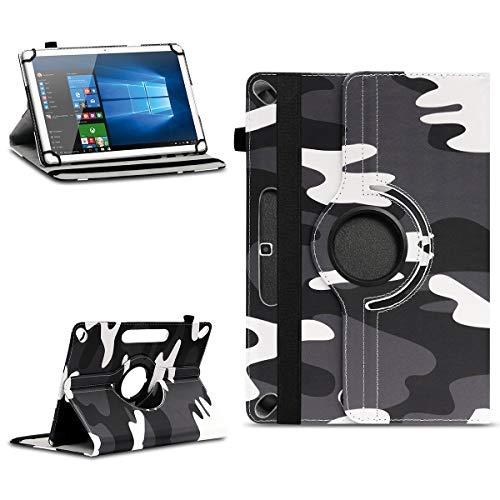 NAmobile Tablet Tasche kompatibel für Wortmann Terra PAD 1005 Hülle hochwertiges Kunstleder mit Standfunktion 360° Drehbar Universal 10.1 Zoll Cover, Farben:Motiv 10