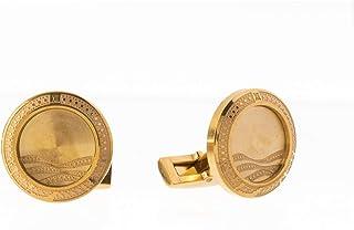 Diamond Moon Stainless Steel Cufflinks for Men, Stainless Steel - 1800541240404