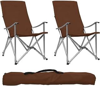 : Chaises de camping vidaXL Chaises Mobilier